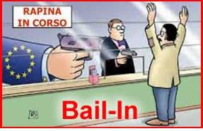 bail in prelievo forzoso furto di soldi fallimento delle banche rapina in banca