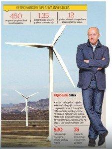 kostic investe in impianti eolici e vende l'energia allo stato serbo