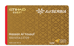 gold Etihad Guest Programme AirSerbia