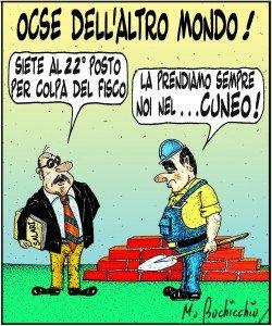 OCSE e fisco italiano e cuneo fiscale troppe tasse